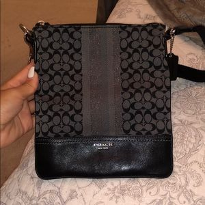Black Signature Coach Crossbody